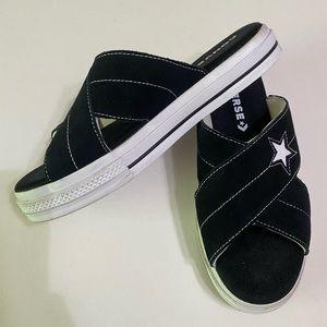 Converse Black Suede Sandals